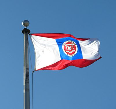 portage michigan flag